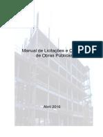 Manual de Licitações e Contratos de Obras Públicas - 3ª Edição