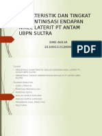 Karakteristik Dan Tingkat Serpentinisasi Endapan Nikel Laterit Pt