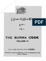 The Burma Code Vol-3