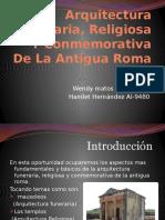 Arquitectura Funeraria, Religiosa Y Conmemorativa de La [Autoguardado] (1)