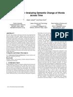 Framework4AnalyzingSemanticChange ofWordsAcrossTime2014