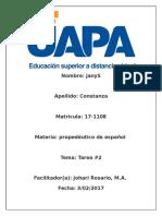 Tarea No 2  propedeutico de español