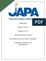 Análisis de Una Obra Literaria de propedeutico de español