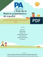 Producción Final de La Materia Propedéutico de Español