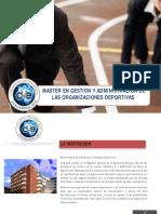 Gestion y Administracion de Entidades Deportivas