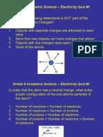 Unit 4 - Electricity Quiz #10