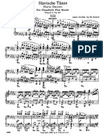 Antonin DVORAK - Danses Slaves - Op 72 - Piano 4 Mains - N°5 en Sib mineur