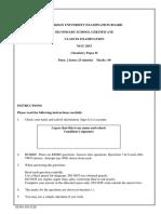 Chemistry SSC 1 Paper II