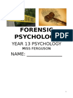 forensic psychology booklet