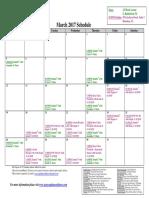 SCDNF March 2017 Schedule