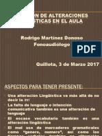 Detección de Alteraciones Lingüísticas en El Aula