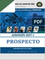 Prospecto Pregrado 2017-1