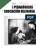 Rutas pedagogicas en la educacion religiosa escolar