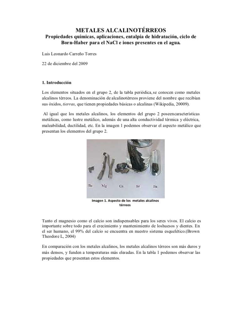 metales alcalinos terreos - Metales Alcalinos Tabla Periodica Definicion