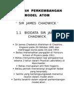 Sejarah Perkembangan Model Atom Sir James Chadwick