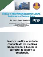 Etica Medica, Decisiones en El Paciente Grave