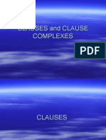 Clause and Clause Complexes
