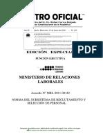 Norma Tecnica Seleccion de Personal 2011