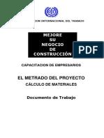 El Metrado Del Proyecto Cálculo de Materiales