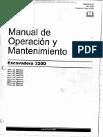 Manual Operacion Mantenimiento Excavadora Hidraulica 320d Caterpillar