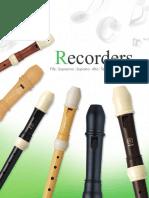 Yamaha - Catálogo de flautas dulces