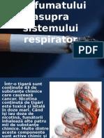 Efectele nocive ale fumatului asupra sistemului respirator