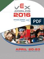 Vex Worlds 2016 Program Book