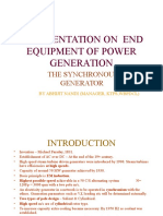 A Presentation on End Equipment of Power Generation