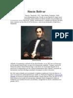 Simón Bolívar Independencia
