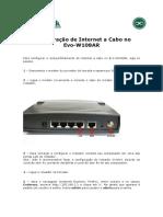 310_Configuracao de Internet a Cabo No Evo-W108AR