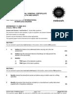 NEBOSH IGC2 Past Exam Paper June 2012