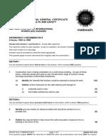 NEBOSH IGC2 Past Exam Paper December 2012