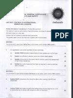 Nebosh Igc2 Past Exam Paper 2012