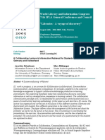 A Collaborative Lecture in Information Retrieval for Students at Universities in Germany and Switzerland