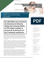 131 Maneras de Morir Para Un Bebé Vacunas y Muerte Súbita Del Lactante