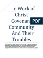 The Work of Christ Covenant Community And Their Troubles