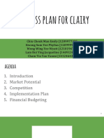 Clairy Presentation Marketing Plan