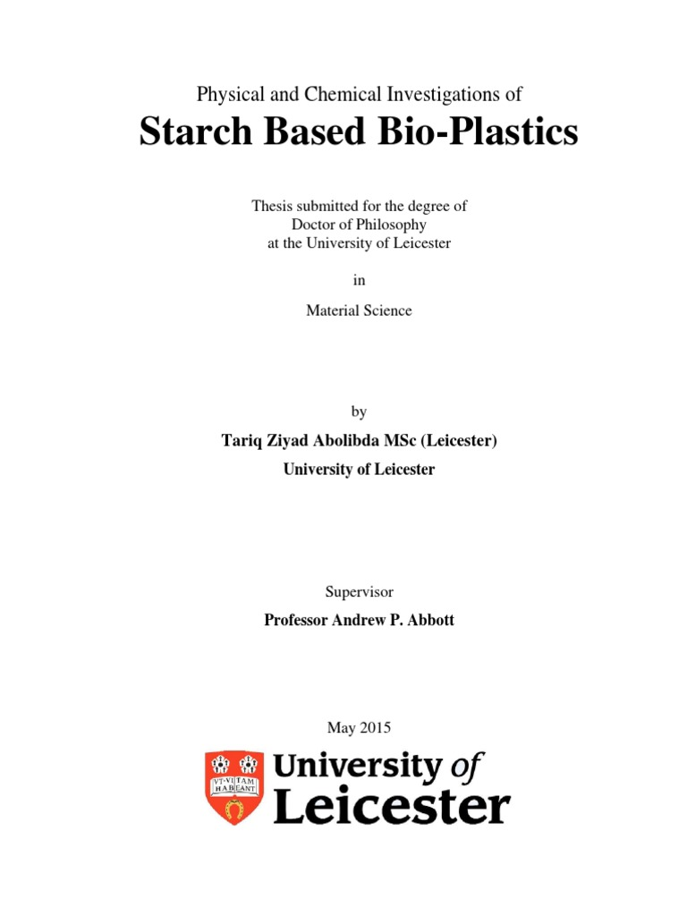 Tariq PhD Thesis 13-08 | Cross Link | Polymers