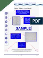 Australian National Police Certificate Sample