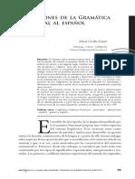 Aplicaciones de La Gramática Funcional Al Español