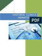 Historia Clinica - HEMATOLOGIA
