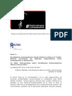 AVISO 4  Taller Internacional Paradigmas Emancipatorios