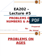 PEA202_Lec#5_Problem on Numbers & Ages