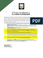 Afiliación FLADEM-FORMEDEM