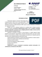 Comunicat ANAF Depunere Declaratie de Inactivitate