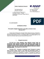 Comunicat Obligatii de Depunere Si Plata Februarie 2017