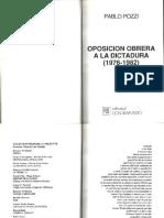 Pablo Pozzi, Oposición Obrera a La Dictadura