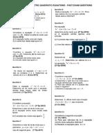 Quadratic equation with parameter