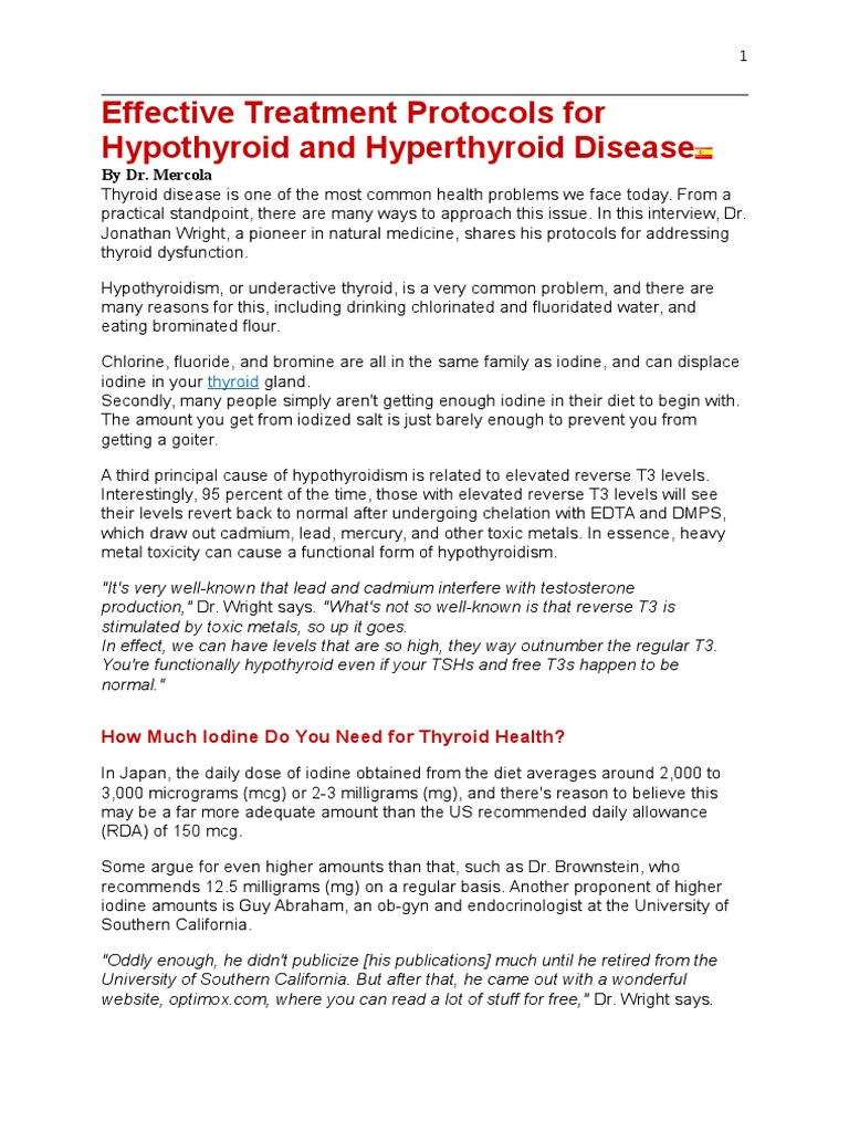 Dr Mercola | Hypothyroidism | Thyroid