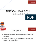 Business Quiz - Quiz Fest 2011 - Prelims With Answers
